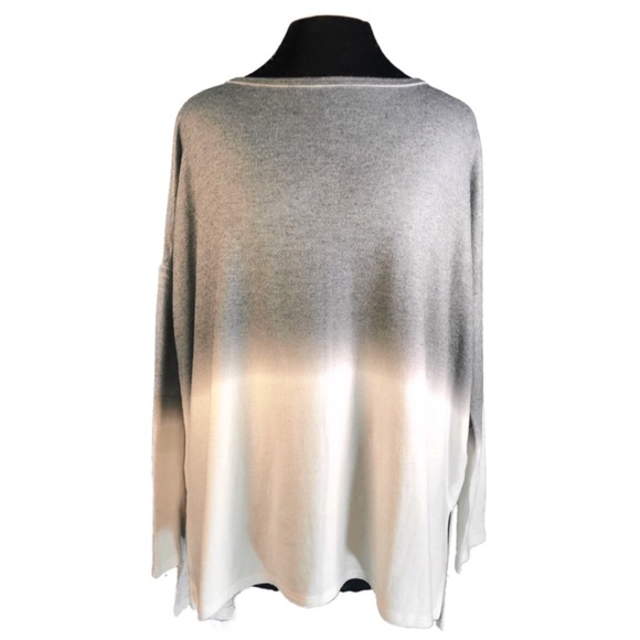 Go Couture Sweaters - Go Couture Vintage Crew Neck Dip Dye Sweater